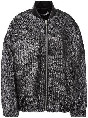 IRO Galara Oversized Metallic Boucle-tweed Bomber Jacket