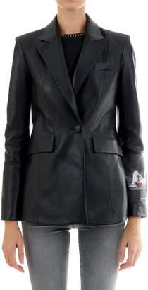 Off-White Off White Black Leather Jacket