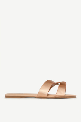 Ardene Faux Leather Cutout Slides