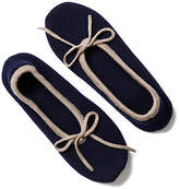 One Kings Lane Two-Tone Cashmere Blend Slippers - Navy