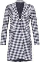 Izabel London Gingham Check Cotton Coat