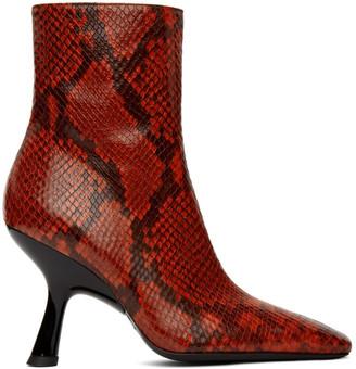 Simon Miller Red Lizard Foxy Boots
