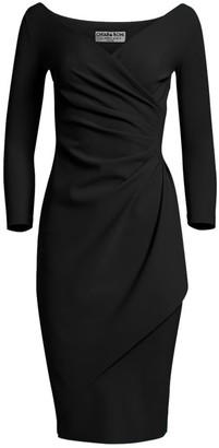 Chiara Boni Charisse Drape Cocktail Dress