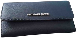 Michael Kors Jet Set Navy Leather Handbags