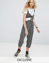 Reclaimed Vintage Inspired Drop Crotch Pants In Tile Print
