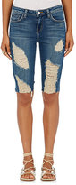 L'Agence Women's Pismo Distressed Knee-Length Shorts