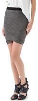 Alexander Wang Marled Jersey Twist Skirt
