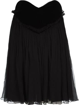 Saint Laurent Strapless Babydoll Mini Dress