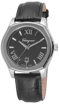 Salvatore Ferragamo Lungarno Stainless Steel & Leather Watch, 40mm