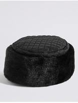 M&S Collection Quilted Fur Hat
