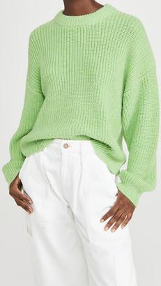 Scotch & Soda Soft Crew Neck Rib Knit Sweater