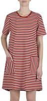 Jump Short Sleeve Striped A Line Dress