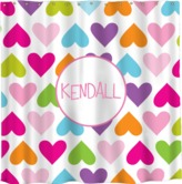 The Well Appointed House Personalized Shower Curtain with Hearts Pattern