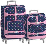 Pottery Barn Kids Mackenzie Navy Pink Multi Hearts Spinner Luggage Bundle, Set Of 2