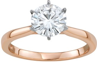Charles & Colvard 14K Rose Gold 1 9/10 Carat T.W. Lab-Created Moissanite Solitaire Ring