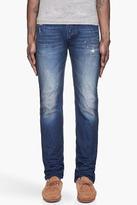Diesel Dark blue and brown Viker L.32 distressed jeans