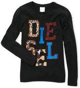 Diesel Girls 7-16) Studded Logo Tee