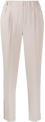 Brunello Cucinelli Elasticated Waistband Tapered Trousers
