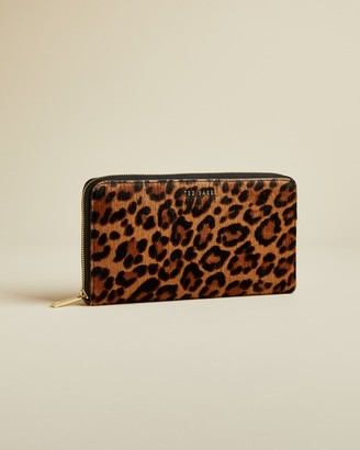 Ted Baker AVERYY Leopard print leather purse