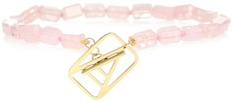 ALIITA A Deco 9kt gold bracelet with morganite