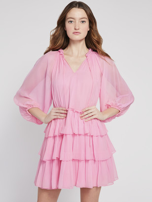 Alice + Olivia Layla Tiered Ruffle Mini Dress