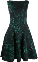 Talbot Runhof Korbut silk jacquard dress