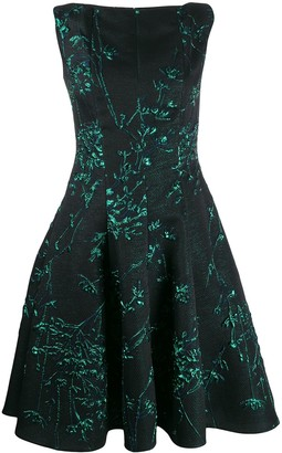 Talbot Runhof Korbut silk jacquard dress