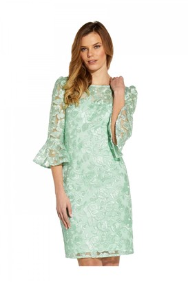 Adrianna Papell Rosie Embroidery Sheath Dress