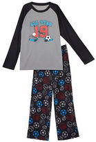 Petit Lem Holiday Two-Piece Sports Printed Pajama Set