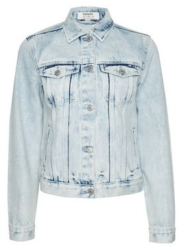 Dorothy Perkins Womens Organic Blue Acid Denim Jacket, Blue