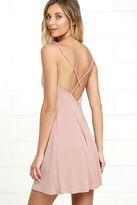 Lush Friday Favorite Mauve Dress