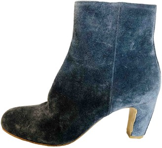 Maison Margiela Navy Suede Ankle boots