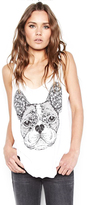 Lauren Moshi Parson Classic Scoop Tank in White