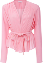 Carven Peplum Wrap Blouse
