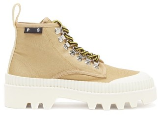 Proenza Schouler City Lug-sole Canvas Boots - Beige White