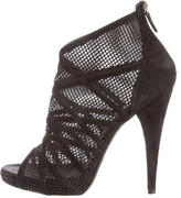 Barbara Bui Peep-Toe Mesh Ankle Boots
