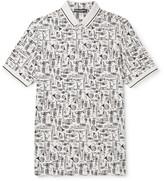 Dolce & Gabbana - Printed Cotton-piqué Polo Shirt