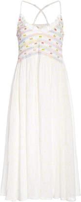 LoveShackFancy Canyon Floral Cotton Midi Dress