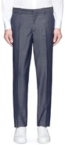 Alexander McQueen Tailored wool-mohair denim pants