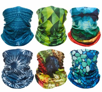 Debrief Me Nature-Blok Reusable Neck Gaiter Bandana| CoolTech | Ultimate Dust Defying Face Mask | 360 Stretch Anti-Slip 1 Size Fits All | Block Out Sand Dust