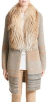 Fabiana Filippi Women's Cashmere Cardigan With Removable Genuine Fox Fur Collar