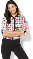 New York & Co. 7th Avenue - Madison Stretch Shirt - Lipstick Print