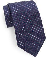 Saks Fifth Avenue Silk Neat-Pattern Tie