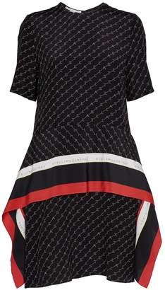 Stella McCartney Silk Monogram Print Dress