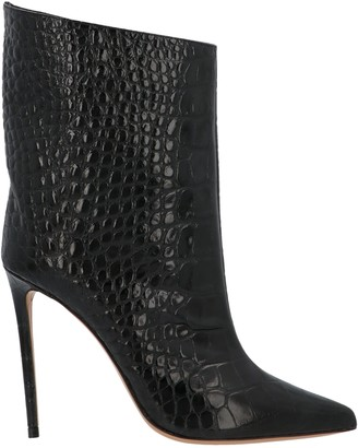 Alexandre Vauthier Asymmetric Piping Ankle Boots
