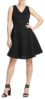 Donna Karan Textured Fit--Flare Dress