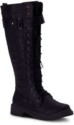 Wanted Knee-High Combat Boots - Retreat