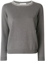 Fabiana Filippi frayed neck jumper - women - Silk/Cashmere/Merino - 40
