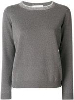 Fabiana Filippi frayed neck jumper - women - Silk/Cashmere/Merino - 42