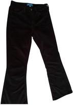 MiH Jeans Black Velvet Trousers for Women